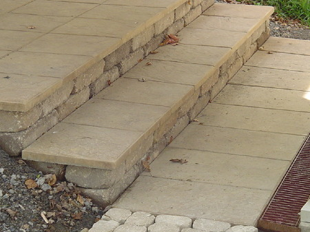 Hardscape - new paver steps to patio area