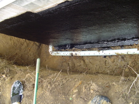 Basement waterproofing and new footer drain